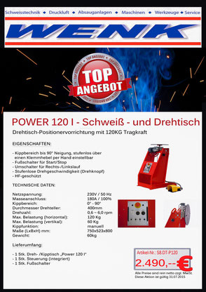 Power 120 - Schweiss- u. Drehtisch