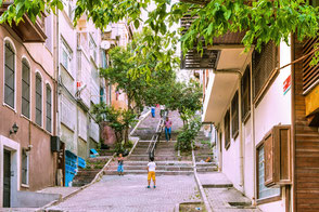 Wohnviertel in Istanbul