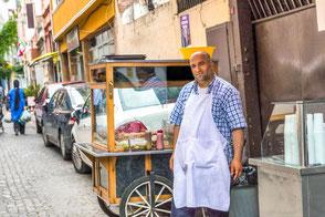 Hähnchenverkäufer in Istanbul