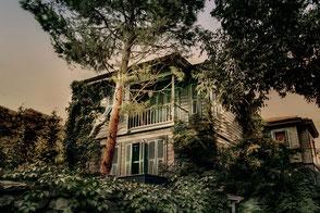 Altes Holzhaus in Istanbul-Anadolu Hisari