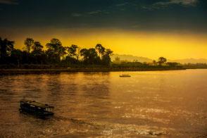 Sonnenuntergang am Mekong in Chiang Rai © Jutta M. Jenning mjpics