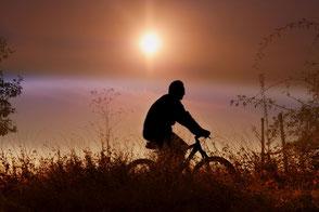 stressless-fahrrad-fahren-im-sonnenuntergang