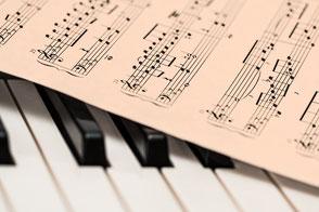 Voice Gesang Noten Klavier