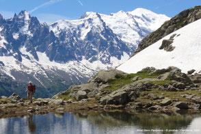 Bergsee mit Mont Blanc