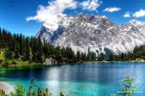 Zugspitze und Seebensee