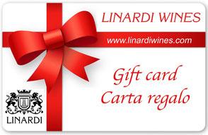 Regala le Gift Card carta regalo di Linardi Wines