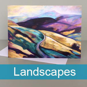 landscapes art greeting cards