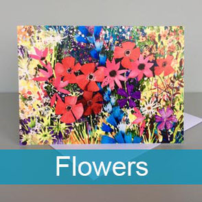 flowers art greeting cards