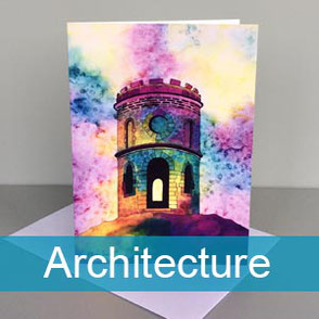 architecture art greeting cards