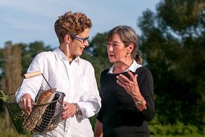Die Schwestern Annette Jacob und Ulrike Roth