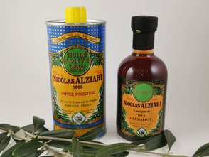 Essig und Öl von Alziari