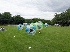 Bubble Soccer Last man standing Bubble Race Frankfurt Junggesellenabsschied
