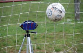 Fußball Teamevents Frankfurt Hessen Rhein Main Gebiet Speedmessung Schussgeschwindigkeit
