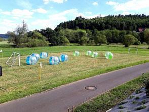 BubbleSoccer Ball Turnier Firmenevent Ideen Frankfurt Bubble Soccer Betriebsausflug Turnier Bumper Ball Teambuilding