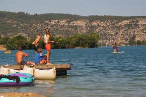 camping le soleil à Esparron de Verdon activité nautique