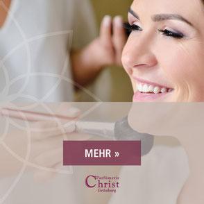 Parfuemerie Christ in Gruenberg - Make-up Workshop, Hochzeitsmake-up, Profi-Make-up, Schminkworkshop