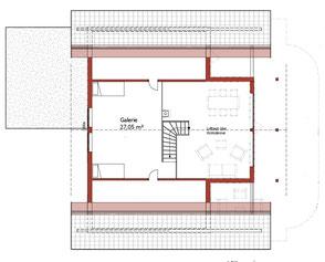 Wohnhaus - Obergeschoss - Individuelle Planung - Holzhaus in massiver Blockbauweise - Architektenhaus - Einfamilienhaus - Massivholzhaus - Hauskauf - Hausplanung -  Galerie - Mecklenburg