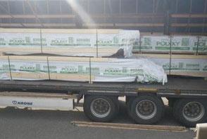Der Holzbausatz wurde in Finnland produziert und für den Transport vorbereitet - Spedition - Transportsicherheit - Blockhausbausatz - Holz - Holzhaus - Berlin Brandenburg - Schleswig Holstein - Mecklenburg Vorpommern - Saarland - Hamburg - Sachsen Anhalt