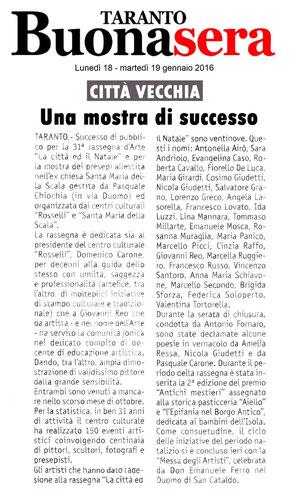 Articolo di Taranto Buonasera del 18 gennaio 2016