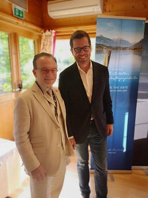 Prof. Dr. Georg Zanger gemeinsam mit dem ehem. Verteidigungsminister Karl-Theodor zu Guttenberg