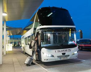 Unger-Reisen Bistro-Bus Skyliner Flughafenfahrten
