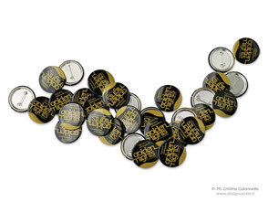 Button badge a colori - personalizzati Golden Night Lignano