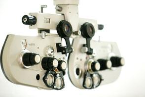 Augenprüfung mittels Phoropter