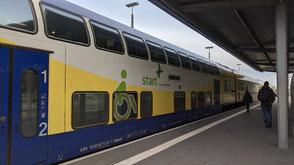 Wendezugsteuerwagen mit Sonderabteil für Rollstuhlfahrer Typ DABpbzkfa der Regionalverkehre Start Deutschland (ex Metronom),