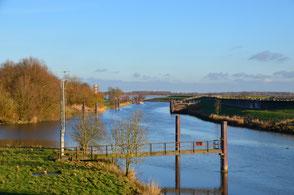 Die Schwinge an ihrer Mündung in die Elbe