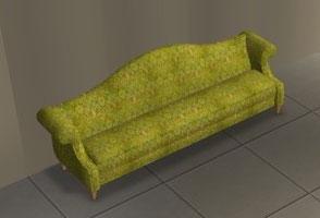 "Sofa ""substane"" recoloration velours vert"
