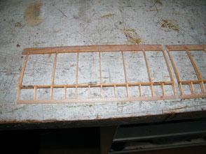 Tragflächenohr | Holm-Rippen-Bauweise | Holzbauweise | Modellbau