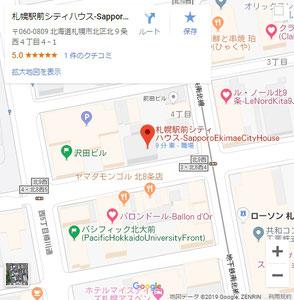 Google_Map_SapporoStationFrontCityHouse
