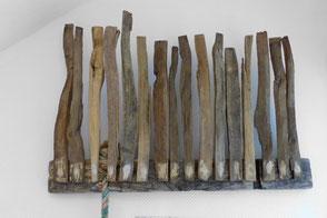 Titel: FlussHausKrone - Treibholz, Holzscheite, Schiff Nylon Seil │ Title: RiverHouseCrown - driftwood, logs, Ship Nylon Rope