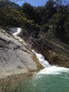 Wasserfälle von Trifos