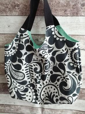Shopper Einkaufstasche Tragetasche Tasche Beutel Handtasche handgemacht Handarbeit handmade SaSch Selbstgefertigtes aus Schwaben
