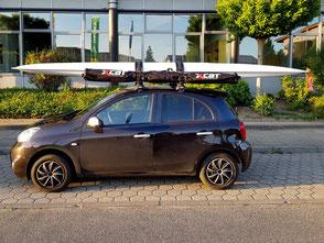 XCAT Sail | Mobil Katamaran segeln: Sicherer Dachtransport auch auf kleinen Autos