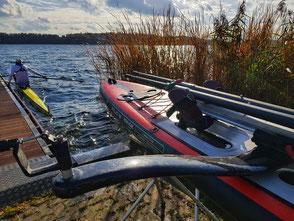 ROWonAIR Regattateilnahme an der Ratzeburg Rowing Challenge, SUP Rudern, am Ziel
