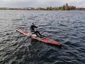 ROWonAIR Regattateilnahme Ratzeburg Rowing Challenge, SUP Rudern, Startvorbereitung