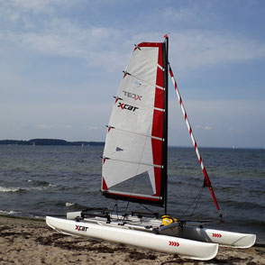 XCAT-Multi-Sportkatamaran, Ostsee, am Priwall-Strand