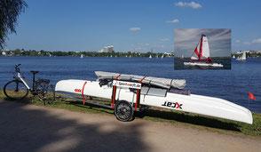 XCAT SailMOBIL | Mit Katamaran auf Fahrradanhänger direkt ans Wasser
