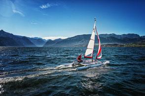 XCAT Sail | Mobil Katamaran segeln: Tagesausflüge auf Seen