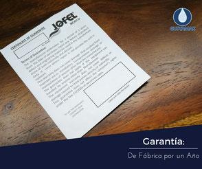GARANTÍA DEL DISPENSADOR DE PAPEL HIGIÉNICO JOFEL MINI ATLÁNTICA AE36000
