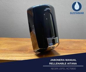 JABONERA MANUAL RELLENABLE AITANA NEGRA JOFEL AC70600