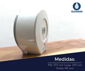 MEDIDAS DEL DISPENSADOR DE PAPEL HIGIÉNICO INSTITUCIONAL JOFEL MAXI ALTERA PH52300