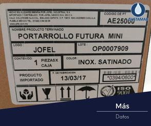 MÁS DATOS DEL DESPACHADOR DE PAPEL HIGIÉNICO INSTITUCIONAL JOFEL FUTURA INOXIDABLE MINI AE25000