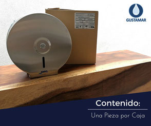 CONTENIDO DEL DESPACHADOR DE PAPEL HIGIÉNICO INSTITUCIONAL JOFEL MINI ACERO INOXIDABLE PH21000