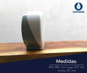 MEDIDAS DEL DISPENSADOR DE PAPEL HIGIÉNICO INSTITUCIONAL JOFEL MINI AZUR PH51001