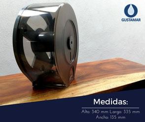 MEDIDAS DEL DISPENSADOR DE PAPEL HIGIÉNICO INSTITUCIONAL JOFEL MAXI ALTERA PH52310