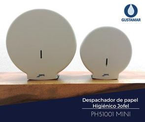 DISPENSADOR DE PAPEL HIGIÉNICO INSTITUCIONAL JOFEL MINI AZUR PH51001