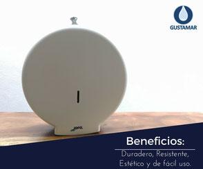 BENEFICIOS DEL DISPENSADOR DE PAPEL HIGIÉNICO INSTITUCIONAL JOFEL MINI AZUR PH51001